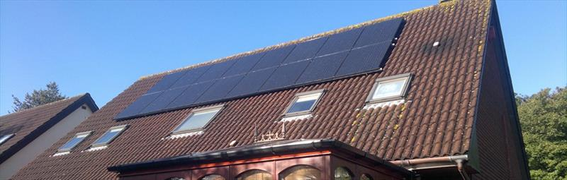 4KW DOMESTIC PV SYSTEM, UK, 2013: 250W [8.250MSGB] 833 SOLAR MONO CRYSTALLINE (GALLIUM) BLACK MODULES