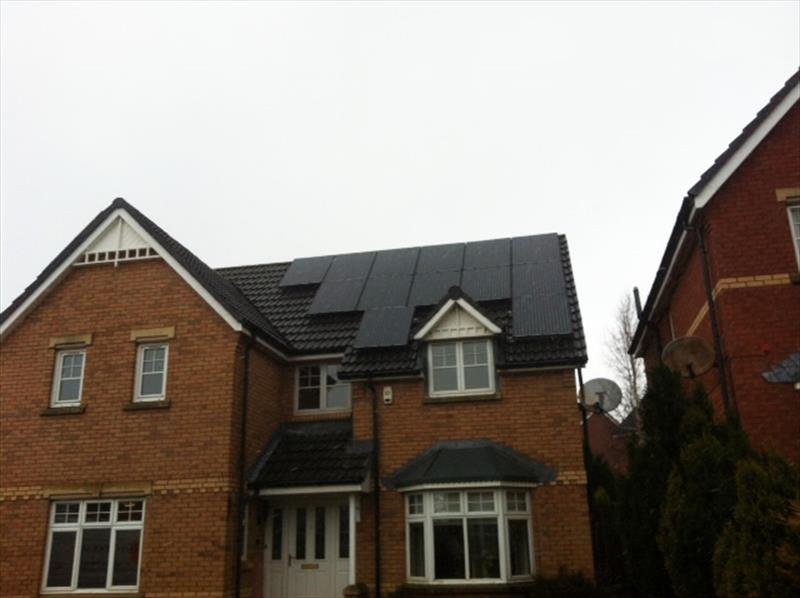 4 KW DOMESTIC PV SYSTEM IN SCOTLAND, 2012, 265W [8.265 MSGB] 8.33 SOLAR MONO CRYSTALLINE (GALLIUM) BLACK MODULES