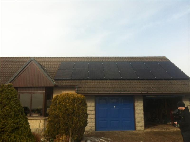 4 KW DOMESTIC PV SYSTEM IN SCOTLAND, 2012, 250W [8.250 MSGB] 8.33 SOLAR MONO CRYSTALLINE (GALLIUM) BLACK MODULES