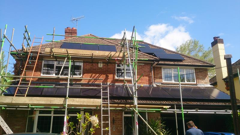 4 KW DOMESTIC PV SYSTEM IN MEDCROFT, ENBORNE ROW, WASH WATER, 250W 8.33 SOLAR ETERNITY.