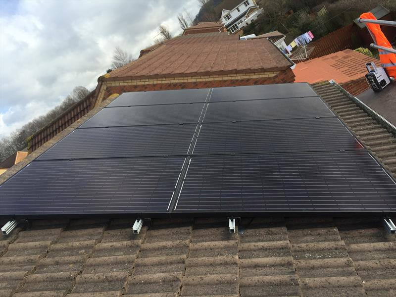 4 KW DOMESTIC PV SYSTEM IN BOWBUM, DURHAM , 250W 8.33 SOLAR ETERNITY.