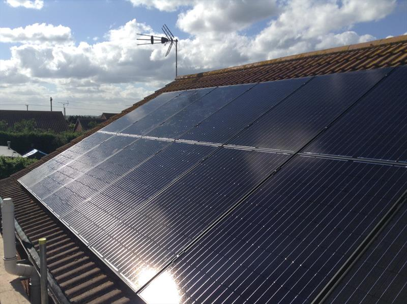 4 KW DOMESTIC PV SYSTEM IN LYNDON ROAD 250W 8.33 SOLAR ETERNITY.
